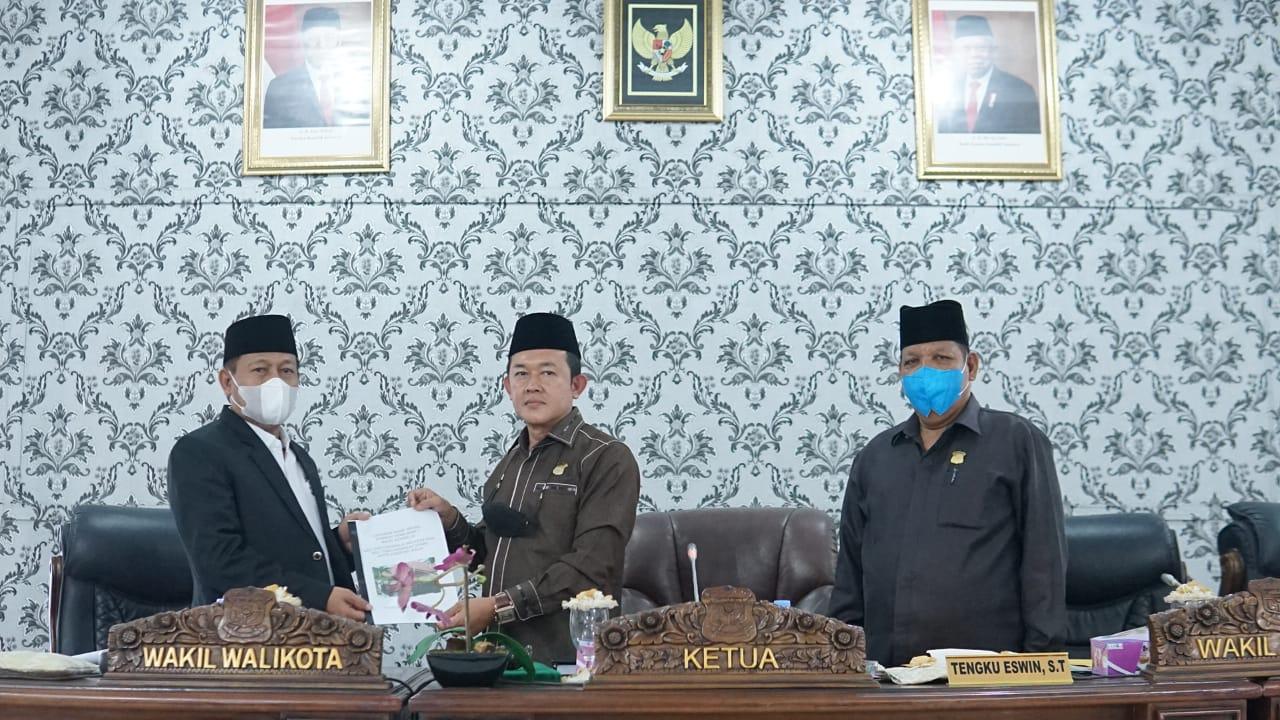 Plt Wali Kota Tanjungbalai Sampaikan Ranperda P-APBD TA 2021
