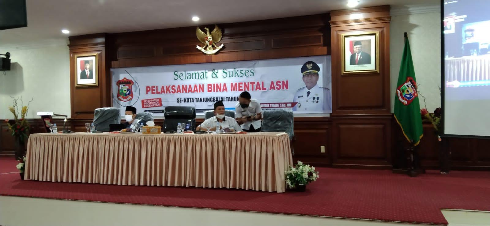 Pemkot Tanjungbalai Gelar Bina Mental Bagi Aparatur Sipil Negara